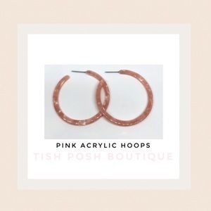 Jewelry - BLUSH Acrylic Hoops